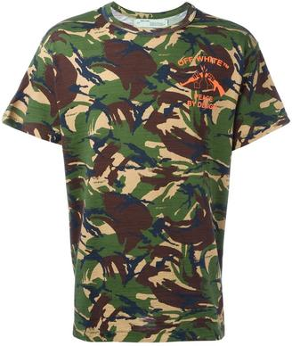 Off-White camouflage print T-shirt $333 thestylecure.com