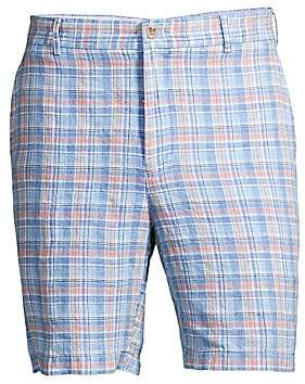 Peter Millar Men's Seaside Madras Plaid Shorts