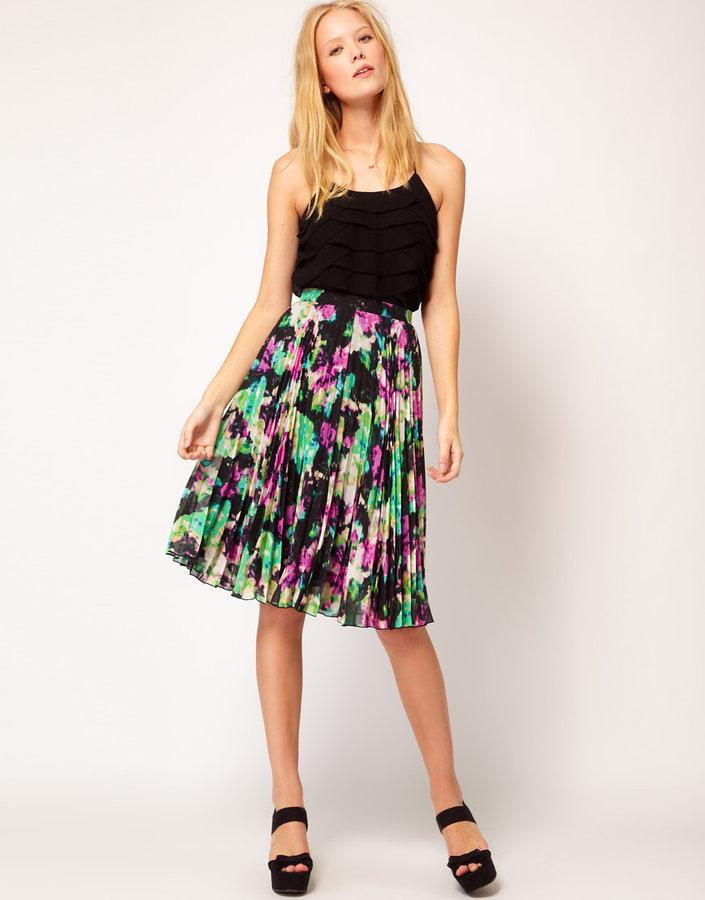 Whistles Lottie Skirt in Luna Print