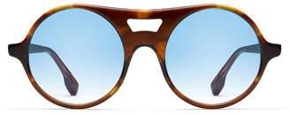 Morgenthal Frederics Monse X Robin Sunglasses in Havana Tortoise