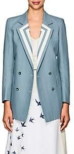 BLAZÉ MILANO Women's Everyday Linen Double-Breasted Blazer - Lt. Blue