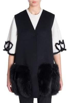 Fendi Fox Fur-Trimmed Vest