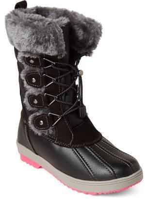 Khombu Toddler/Kids Girls) Black Reyes Faux Fur Snow Boots
