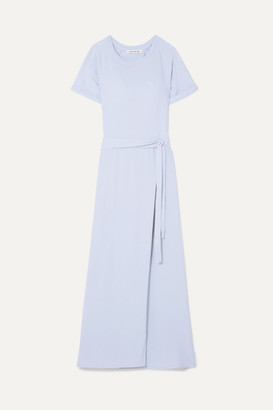 Elizabeth and James Welles Belted Cotton-jersey Maxi Dress - Light blue