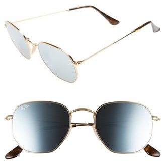 Women's Ray-Ban 51Mm Sunglasses - Gold Silvr $175 thestylecure.com