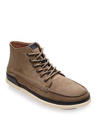 OluKai Men's Nalukai Kapa Waxed Canvas Boots w/ Leather Accents
