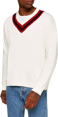 Topman Milan Oversize V-Neck Sweater