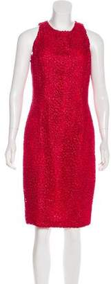Carmen Marc Valvo Embroidered Sleeveless Dress w/ Tags
