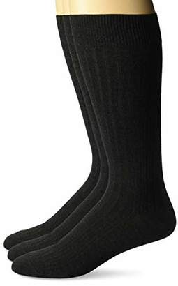 Buttoned Down Men's 3-Pack Premium Ribbed Silky Soft Dress Socks