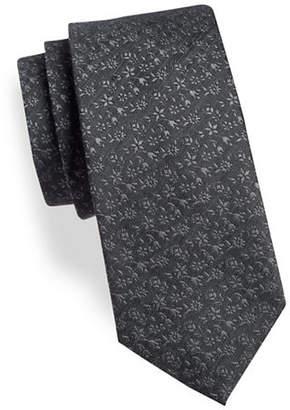 Geoffrey Beene Floral Silk-Blend Tie