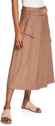 Vince Belted Midi Utility Skirt