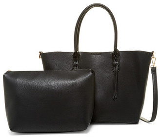 Moda Luxe Blair Faux Leather Tote & Pouch $90 thestylecure.com