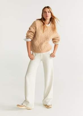 MANGO Chunky-knit sweater beige - XS - Women