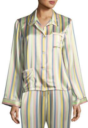 Morgan Lane Ruthie Sorbet-Striped Pajama Top
