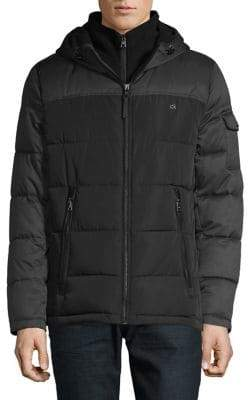 Calvin Klein Quilted Down-Alternative Puffer Coat