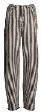 Marques Almeida Marques'Almeida Striped Maxi Boyfriend Pants