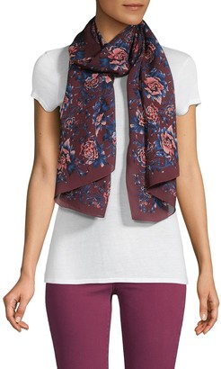 Burberry Floral Silk Scarf