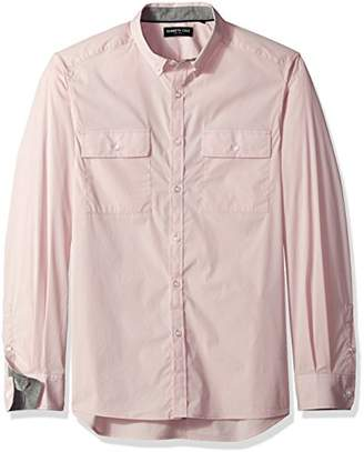 Kenneth Cole New York Men's Long Sleeve Solid Stretch Utility