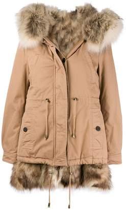 Alessandra Chamonix racoon fur lined parka coat