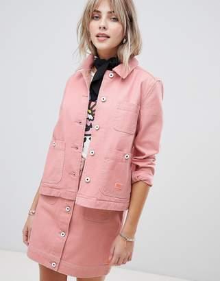 Maison Scotch workwear jacket with contrast stitching