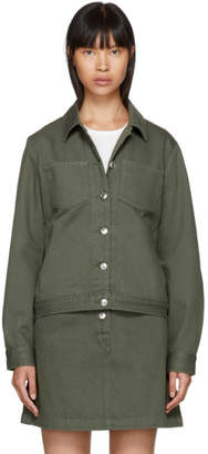 A.P.C. Khaki Denim Juliette Jacket