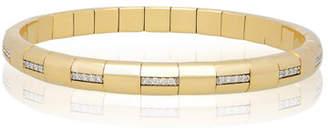 Roberto Demeglio PURA GOLD 18k Woven Diamond Bar Bracelet
