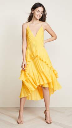 Halston Halter Pleated Dress