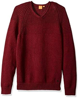 BOSS ORANGE Men's Kwarkust V-Neck Jumper
