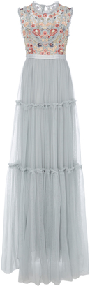 Needle & Thread Sundaze Embroidered Tulle Gown $450 thestylecure.com