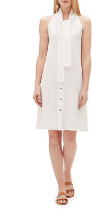 Lafayette 148 New York Amore Finesse Crepe Tie-Neck Sleeveless Dress
