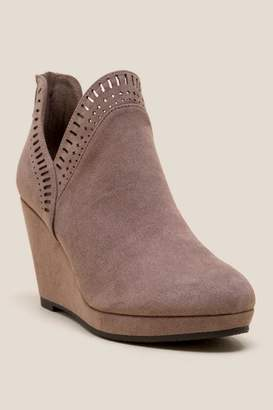Laundry by Shelli Segal Cl By CL by Vicci Platform Wedge Ankle Boot - Taupe