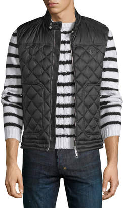 Moncler Rod Quilted Nylon Moto Vest, Black