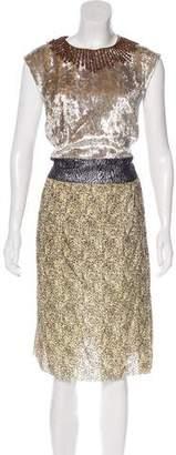 Dries Van Noten Metallic Midi Dress