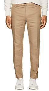 Pt01 Men's Linen-Cotton Slim Trousers - Beige, Tan