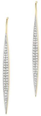 Adina 14K Yellow Gold Marquise Drop Pavé Diamond Earrings