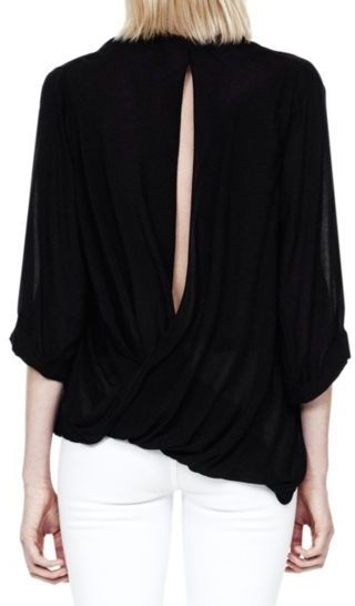 Helmut Lang Lush Voile Twist Back Top