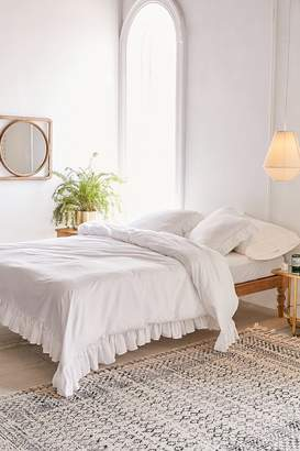 Urban Outfitters Washed Cotton Overscale Ruffle Duvet Cover