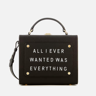 Meli-Melo Women's Art Bag with Text - Black