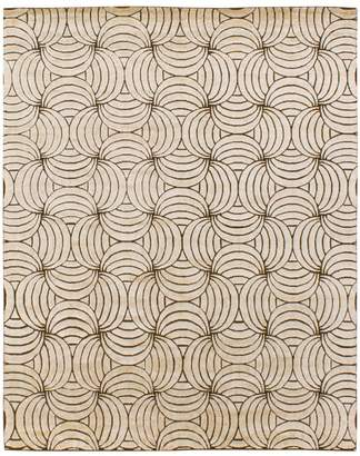 GRIT&ground Maya Gold Area Rug - Gold/Brown, 9' x 12'