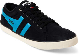 Gola Black & Neon Blue Twill Low-Top Sneakers