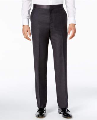 Ryan Seacrest Distinction Men's Modern Fit Gray Flannel Tuxedo Pants, Only at Macy's $175 thestylecure.com