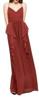 BCBGeneration Mixed-Media Maxi Dress