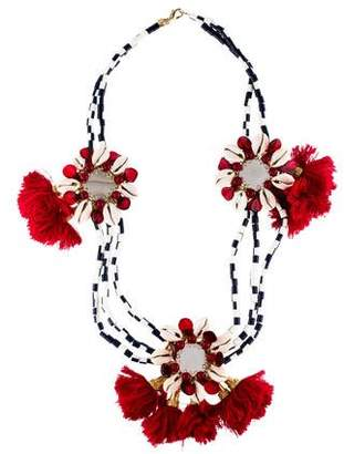 Tory Burch Pukka Shell & Mirror Collar Necklace