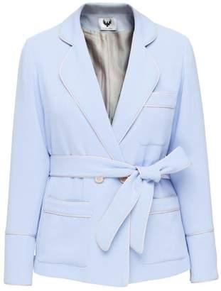 Diana Arno Brenna Pyjama Style Blazer In Heavenly Blue