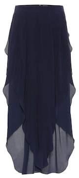 Chloé Asymmetric silk chiffon pants