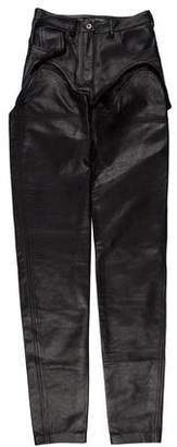 Y/Project Cutout Transformer Leather Pants