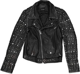 Maison Scotch Black Leather Jackets