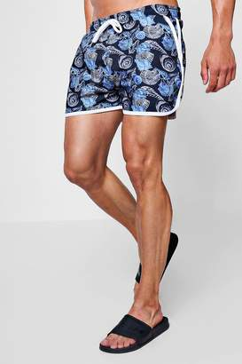 boohoo Print Runner Swim Short
