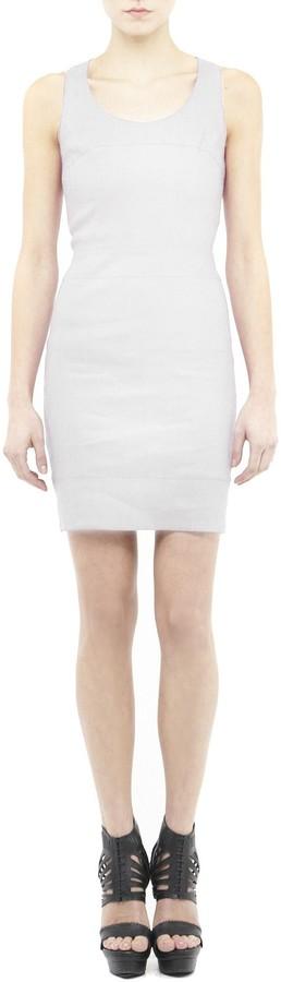 Nicole Miller Diamond Stretch Linen Dress