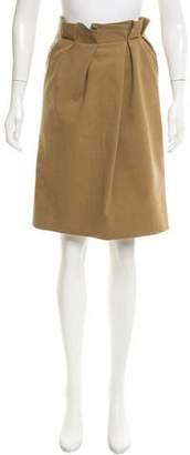 Lyn Devon Ruffled Knee-Length Skirt